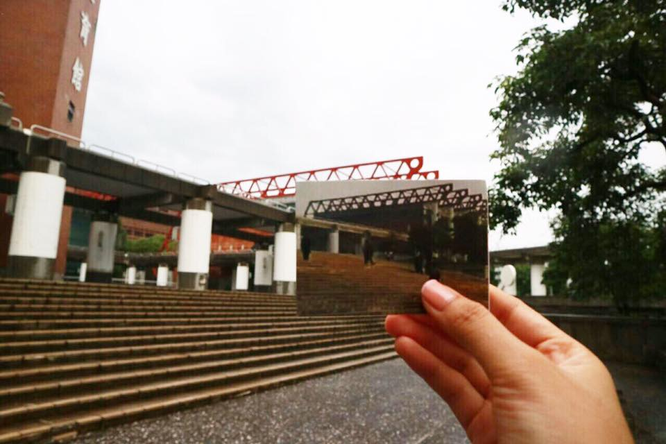 UNIVERSITY ENTRANCE: A scene from Episode 1 at the university entrance.